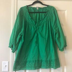 Lane Bryant green blouse